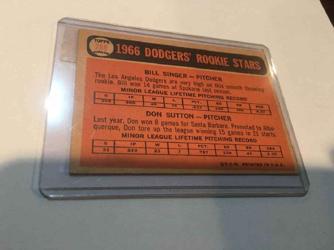 1966 Topps DON SUTTON # 288 LOS ANGELES DODGERS - 2