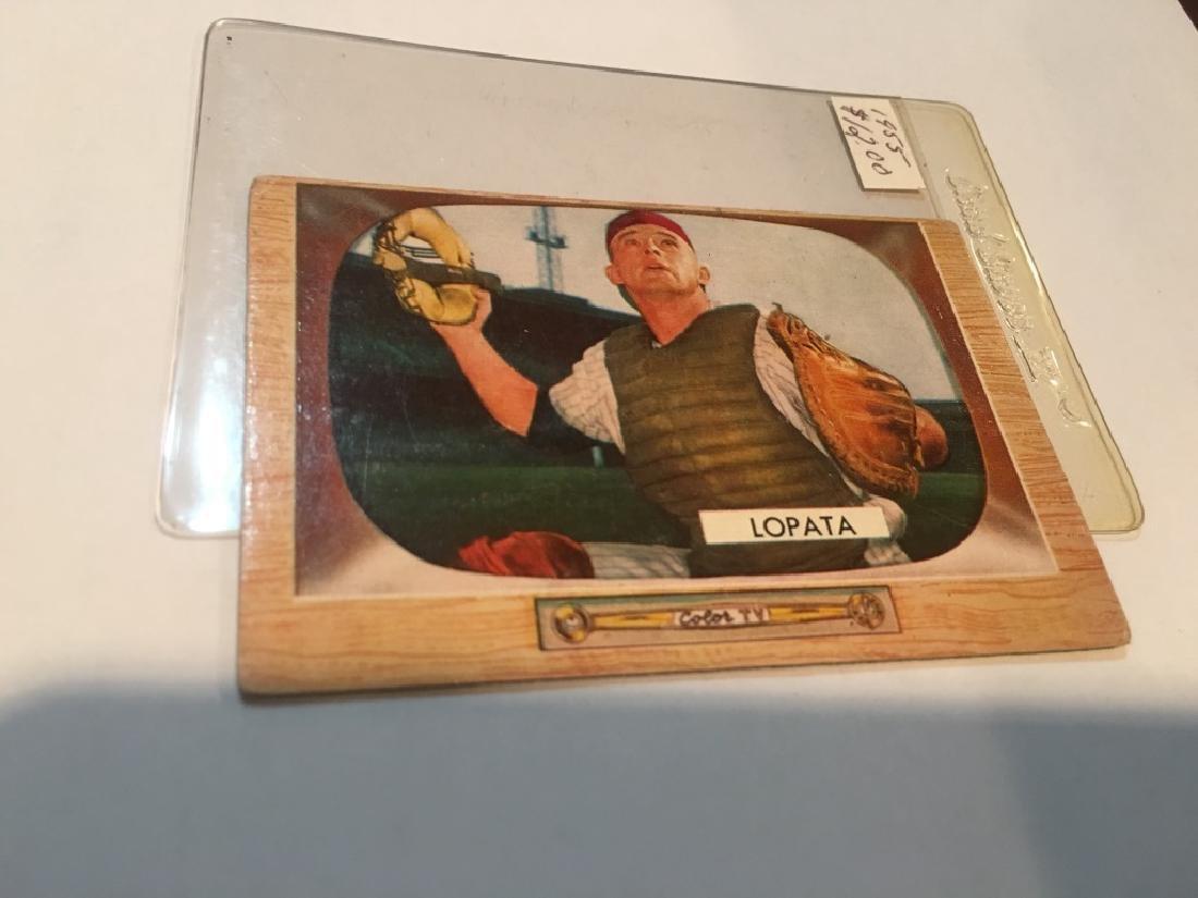 1955 BOWMAN # 18 STAN LOPATA - PHILADELPHIA PHILLS