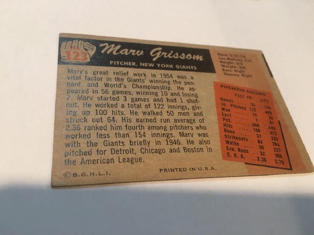 1955 Bowman #123 Marv Grissom RC - 2