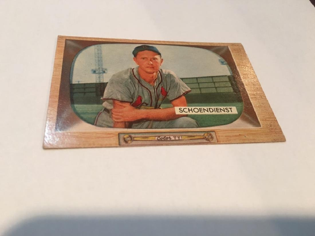 Al +IBw-Red+IB0 Schoendienst 1955 Bowman card #29 St