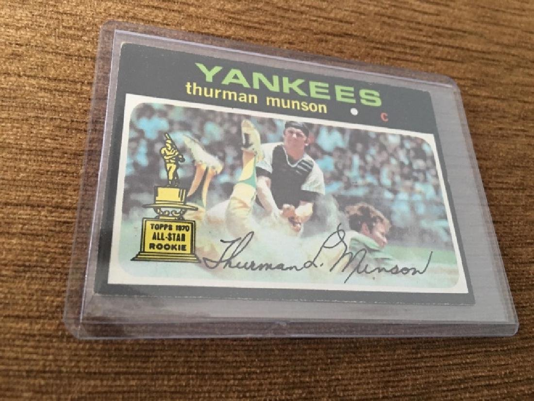 1971/71 Topps Baseball THURMAN MUNSON Yankees RC 5