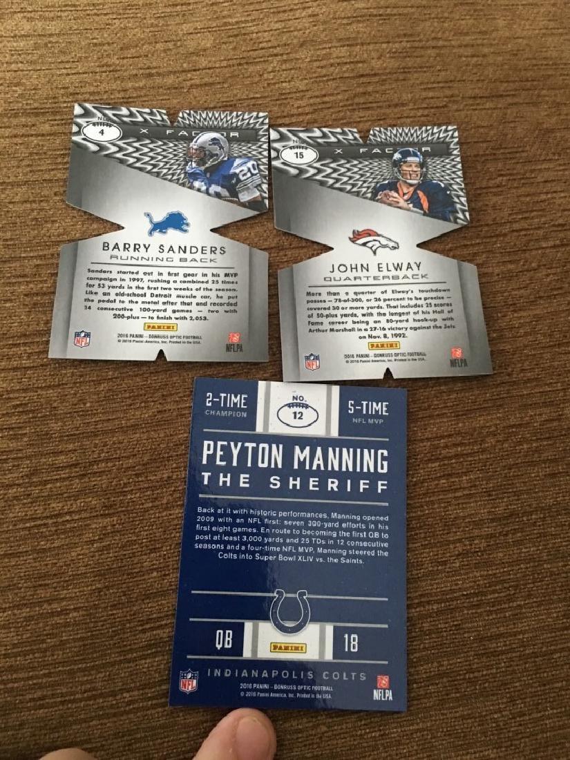 Peyton Manning Barry Sanders John Elway Lot - 3