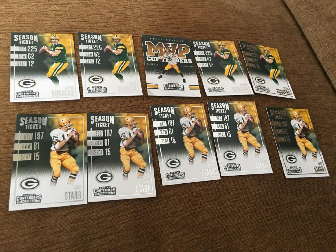 Aaron Rodgers Bart Starr 2016 Contenders Lot
