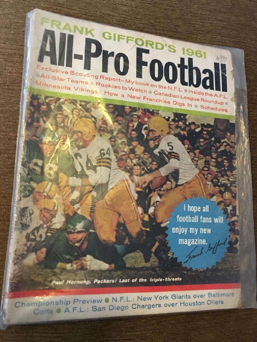 1961 Frank Gifford's All-Pro Football magazine