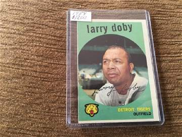 1959 Topps #455 Larry Doby EX Excellent Tigers