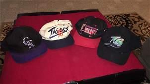 4 vintage MLB baseball caps Colorado Rockies