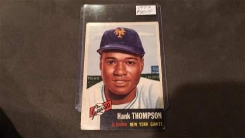Hank Thompson 1953 topps vintage card New York