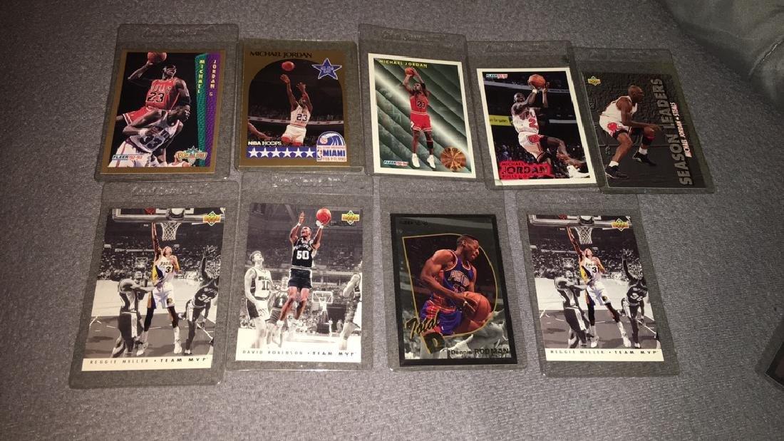 Michael Jordan basketball card lot with Dennis