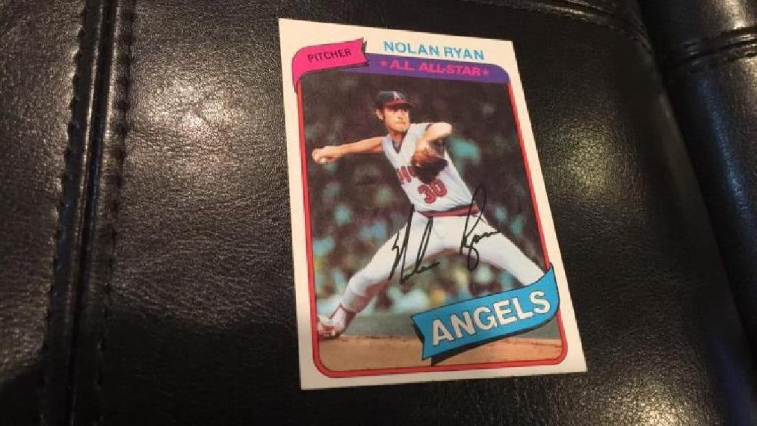 Nolan Ryan 1980 tops vintage baseball card