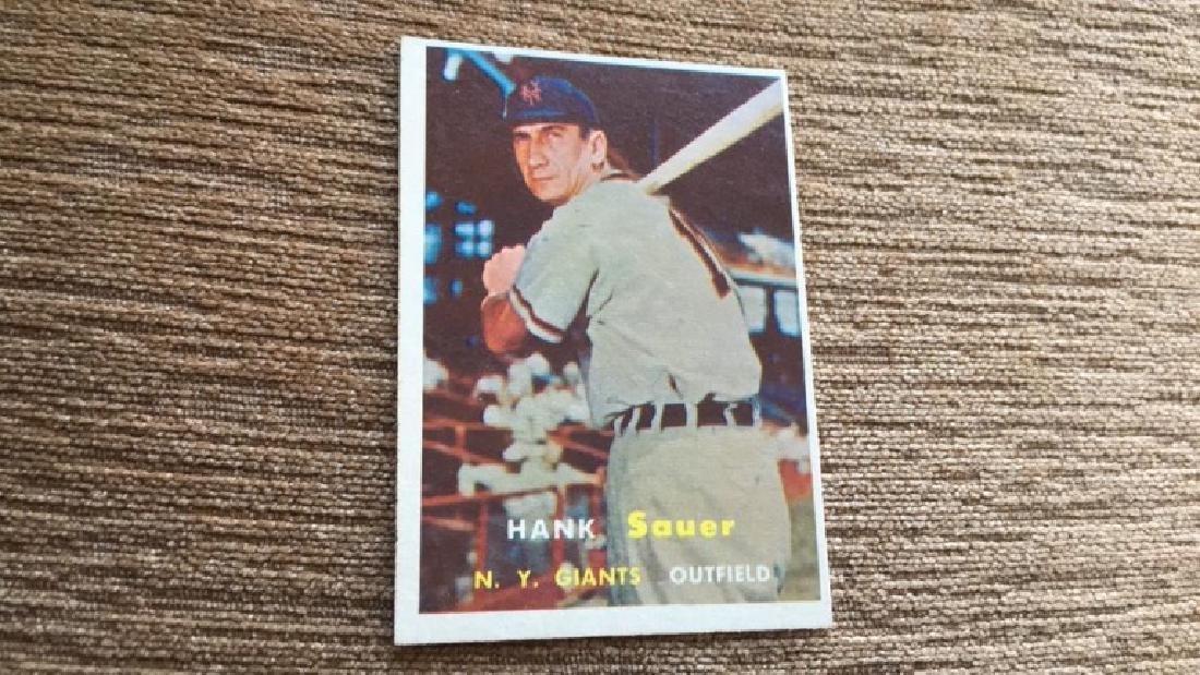 Hank Sauer 1957 topps