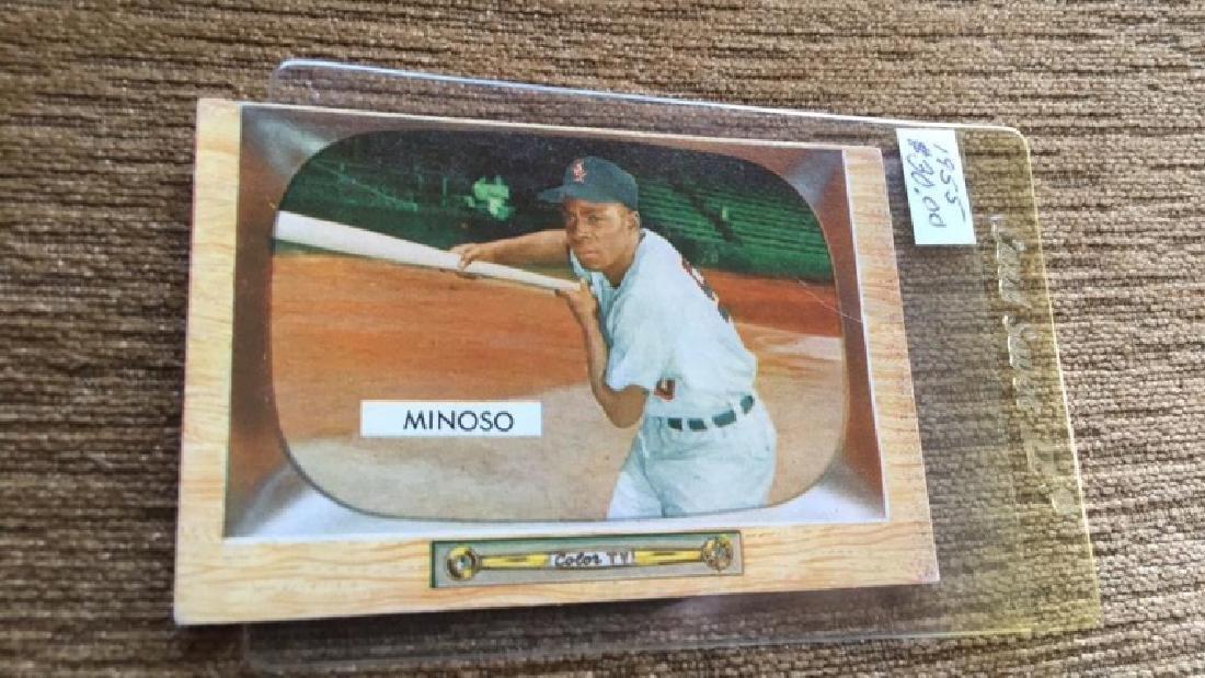 Minnie Minoso 1955 Bowman vintage baseball card