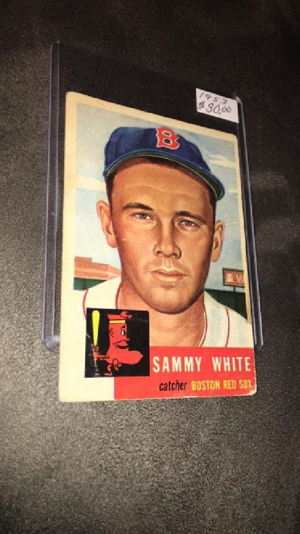 Sammy white 1953 topps vintage baseball card