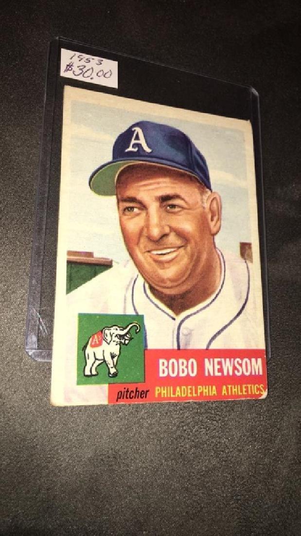 Bobo Newsom 1953 topps vintage baseball card