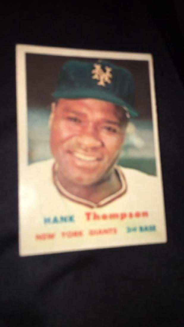 Hank Thompson 1957 topps vintage baseball card