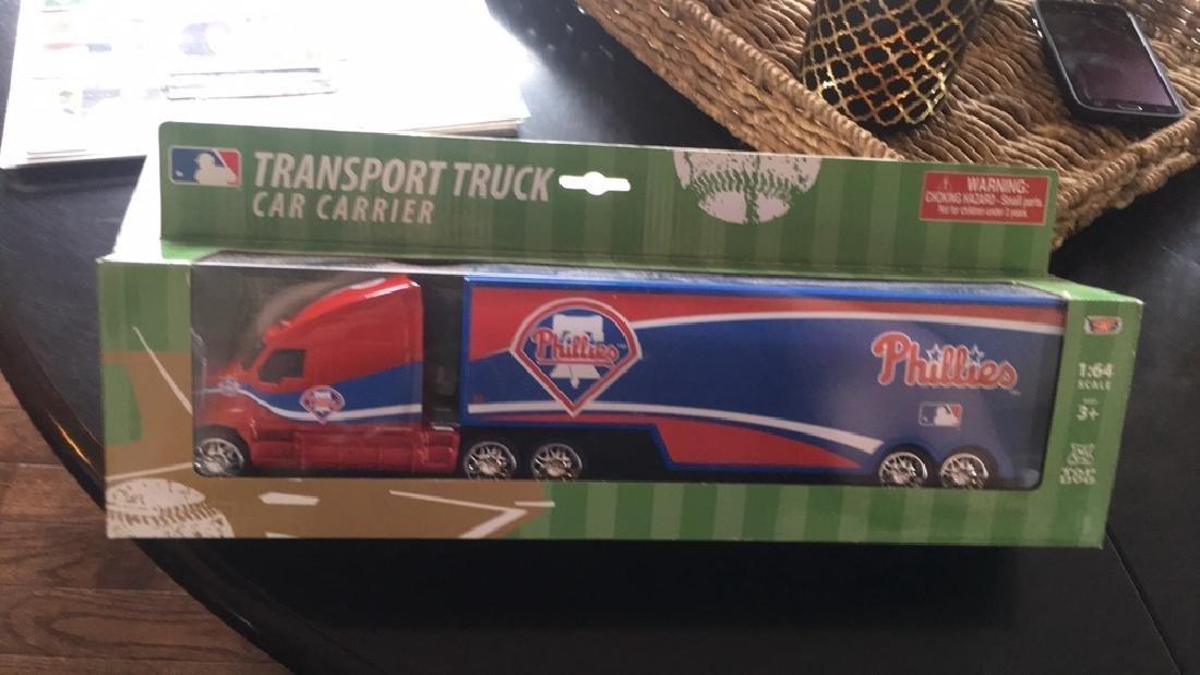 Philidelphia Phillies transport truck car carrier