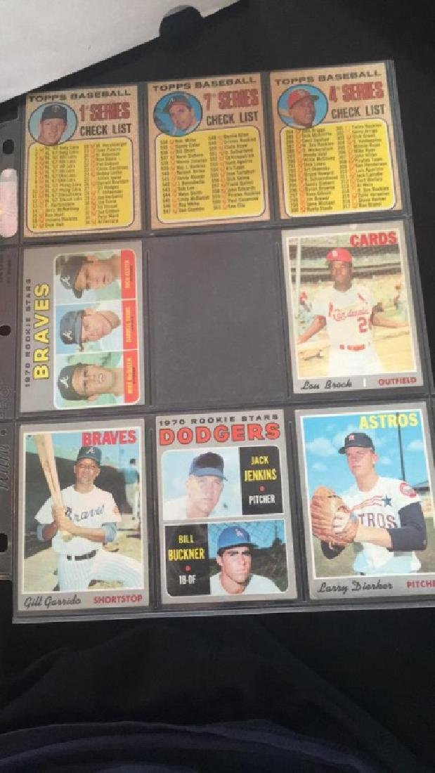 Vintage 1960s and 1970s baseball cards what Bill