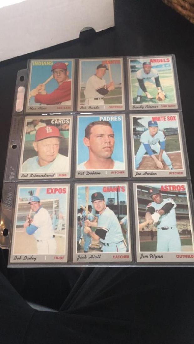1970 tops vintage baseball cardlot