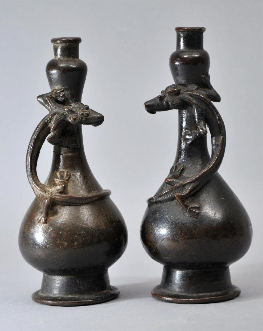 Pair of Yuan/Ming Dynasty Chinese double gourd form
