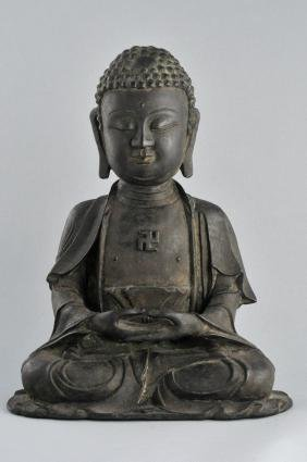 Bronze Buddha. China. Ming period (1368-1644). Seated
