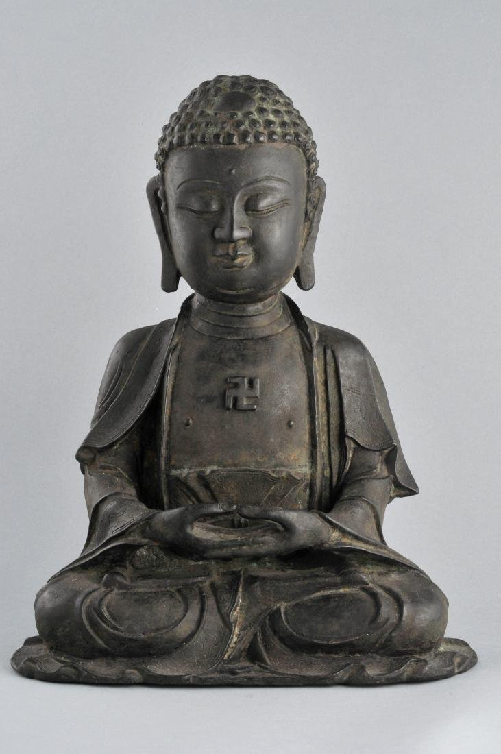Bronze Buddha. China. Ming period (1368-1644). Seated
