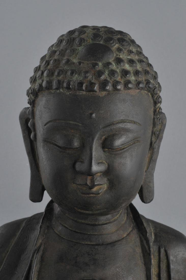 Bronze Buddha. China. Ming period (1368-1644). Seated - 2