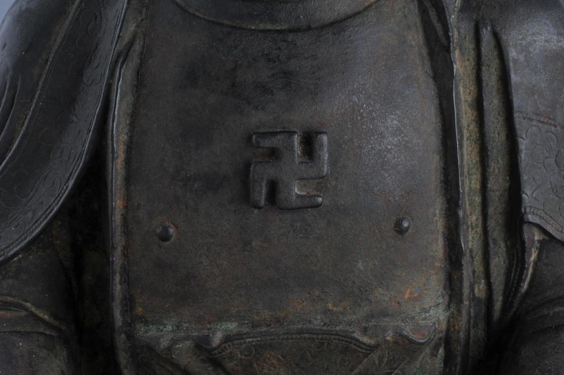 Bronze Buddha. China. Ming period (1368-1644). Seated - 3