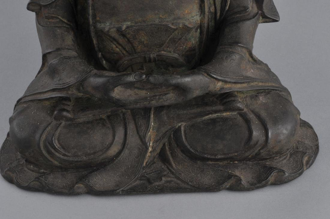 Bronze Buddha. China. Ming period (1368-1644). Seated - 4