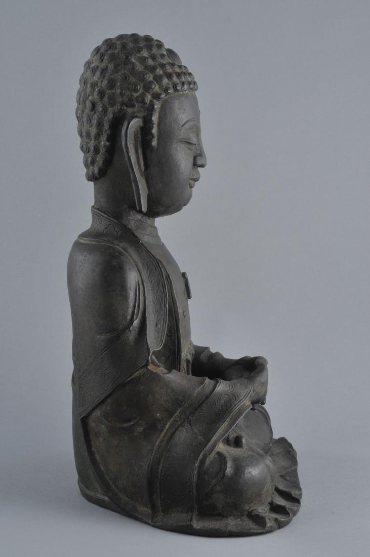 Bronze Buddha. China. Ming period (1368-1644). Seated - 5