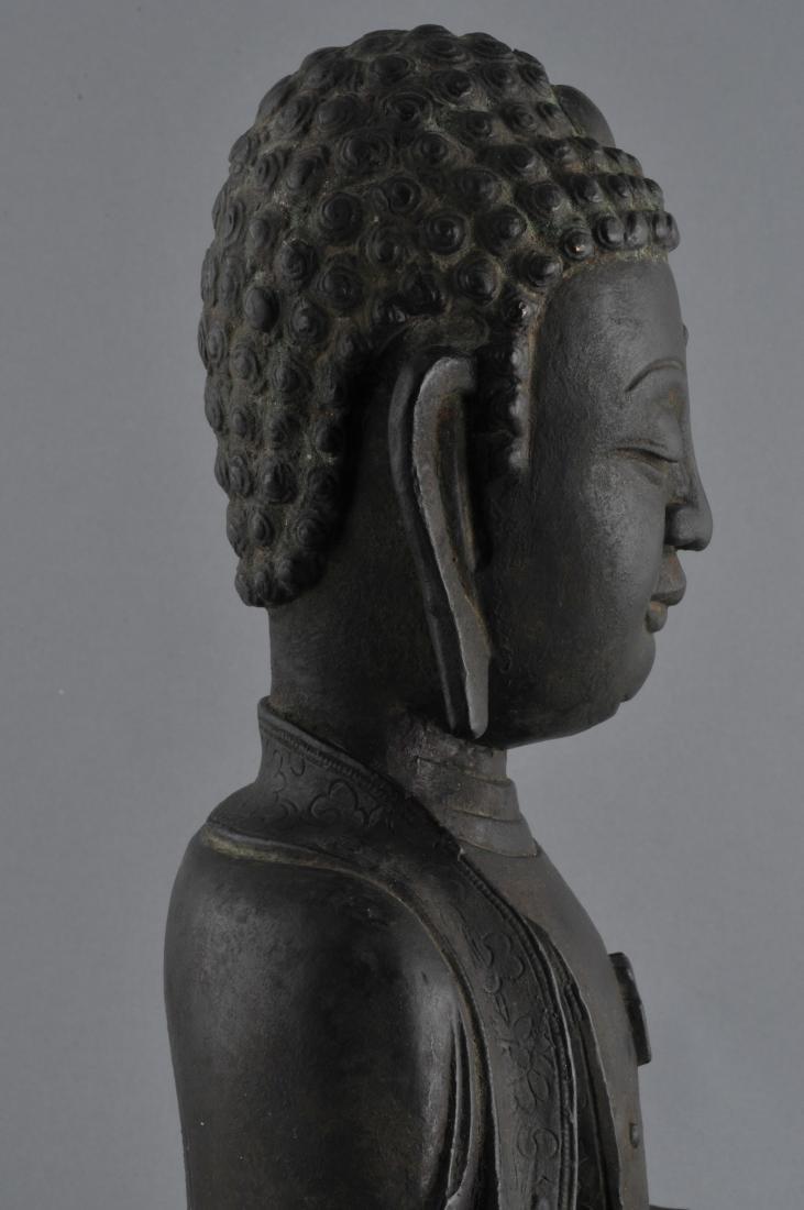 Bronze Buddha. China. Ming period (1368-1644). Seated - 6