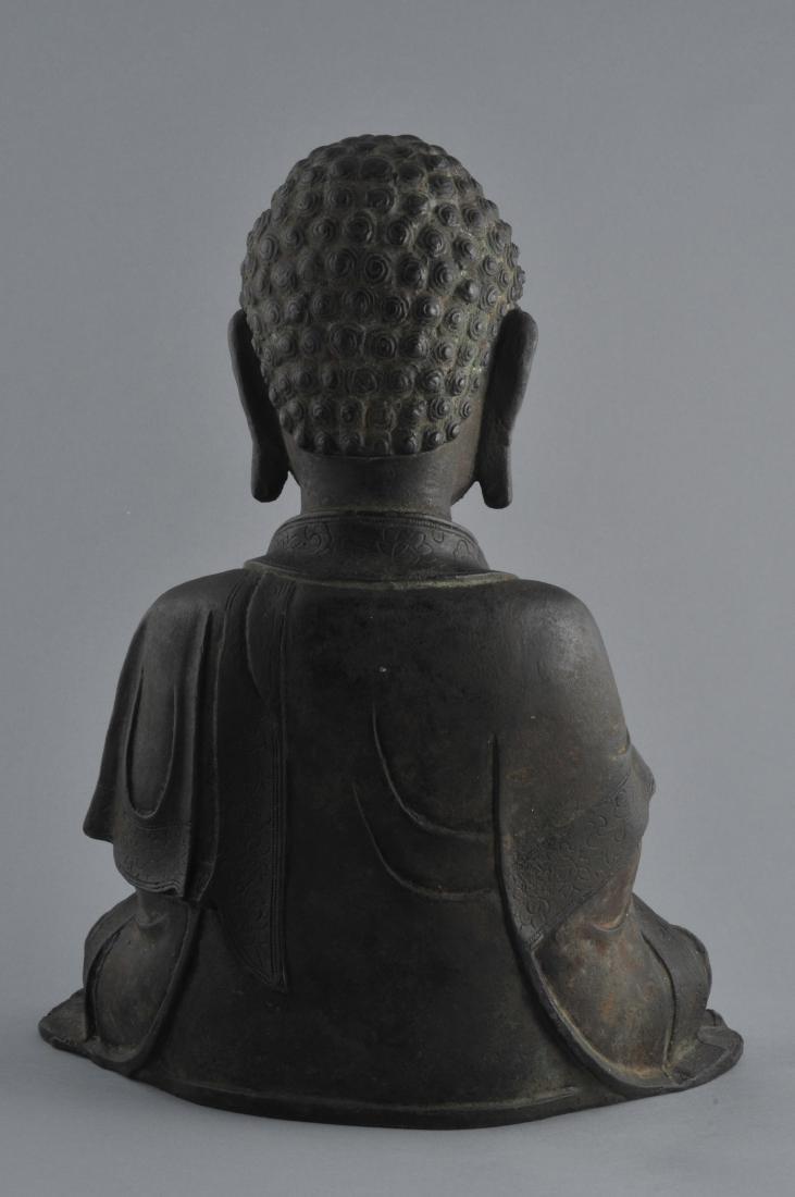 Bronze Buddha. China. Ming period (1368-1644). Seated - 7