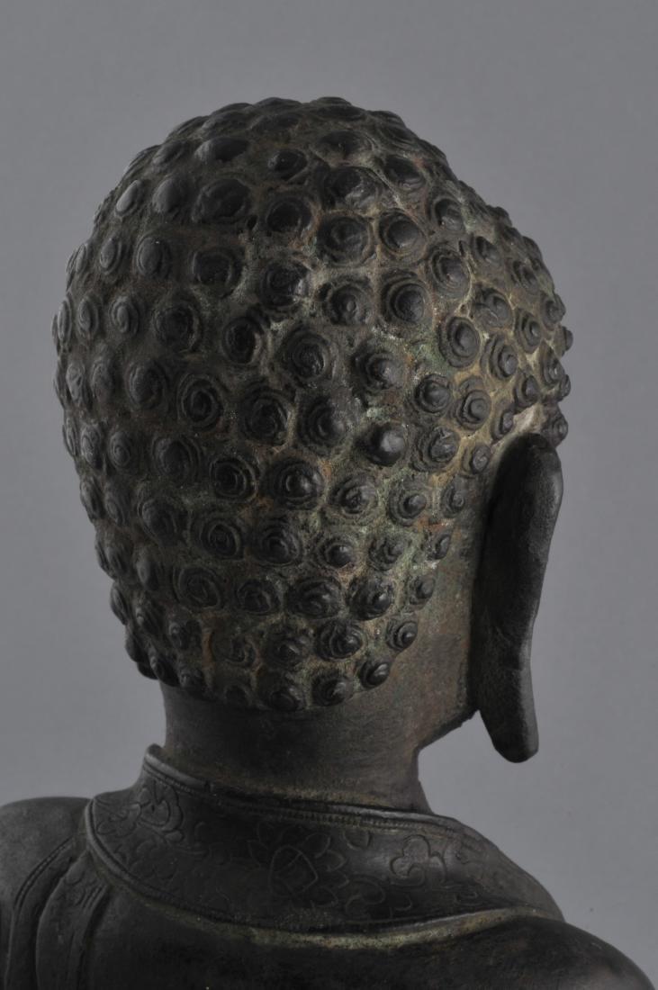 Bronze Buddha. China. Ming period (1368-1644). Seated - 8