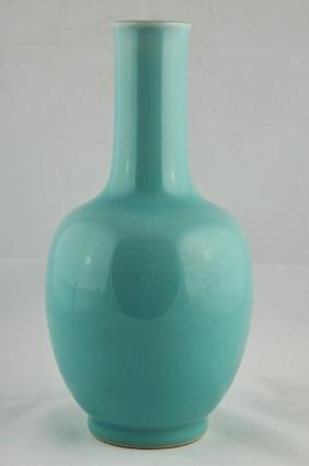 Porcelain vase. China. 20th  century, Bottle form.