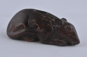 Jade Carving. China. Probably Tang Period. Brown Stone