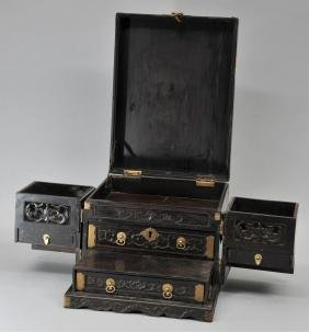 Mirror Box. China. 19th Century. Hung Mu Rosewood With
