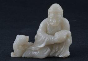 Jade carving. China. 19th century. White stone. Carving