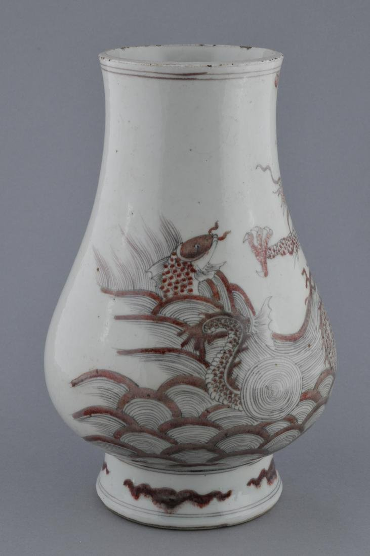 Porcelain vase. China. 19th century. Underglaze red - 4