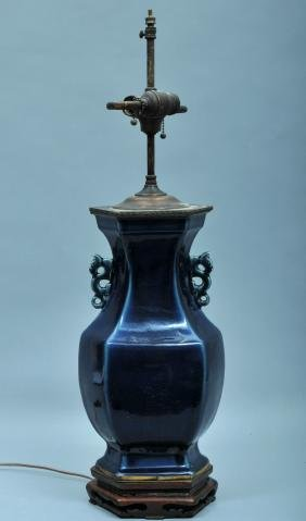 Porcelain vase. China. 18th/19th century. Hexagonal