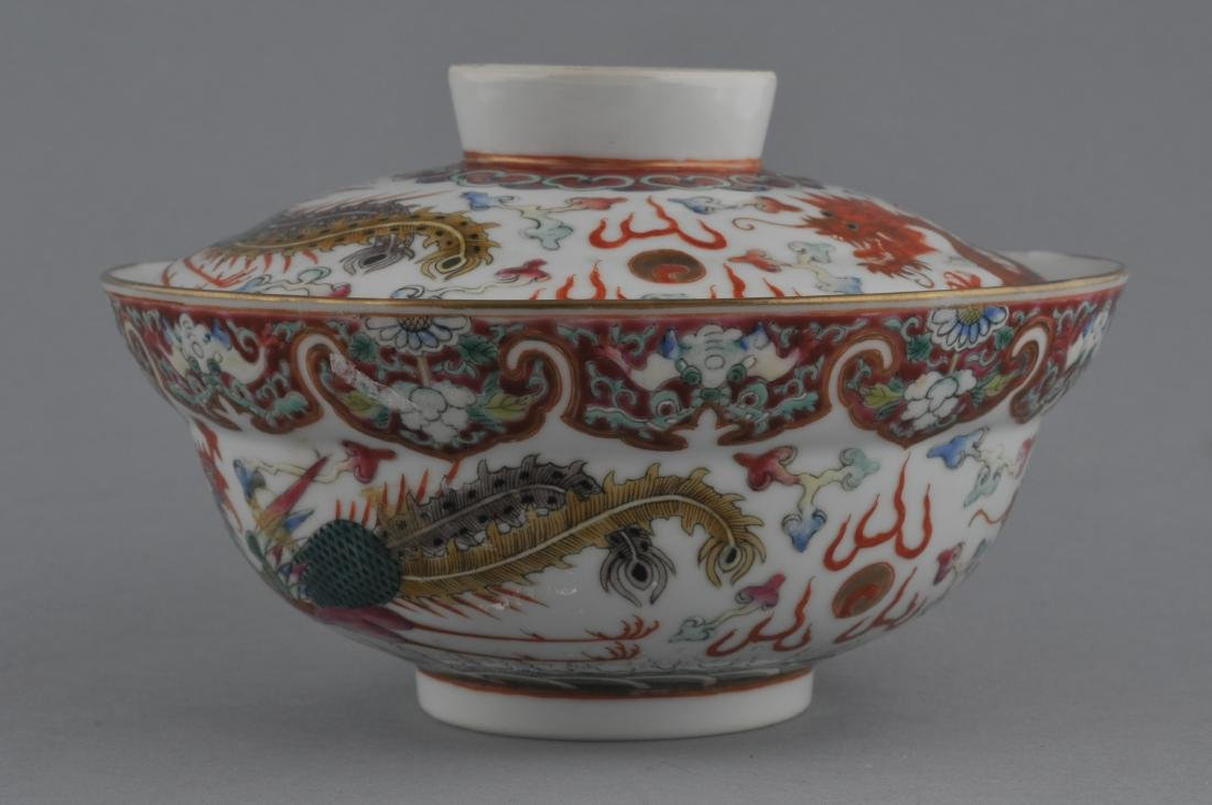 Porcelain covered bowl. China. Kuang Hsu (1875-1908)