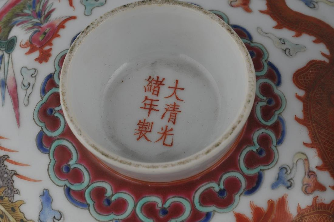 Porcelain covered bowl. China. Kuang Hsu (1875-1908) - 2