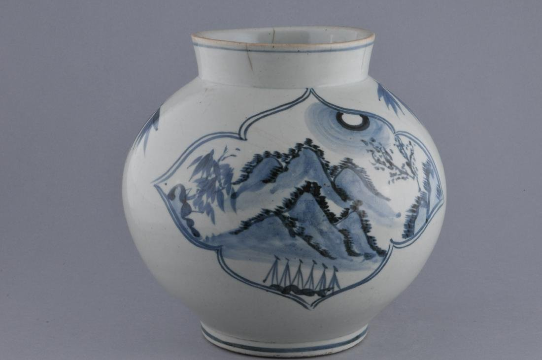 Porcelain jar. Korea. 18th century. Underglaze blue - 3