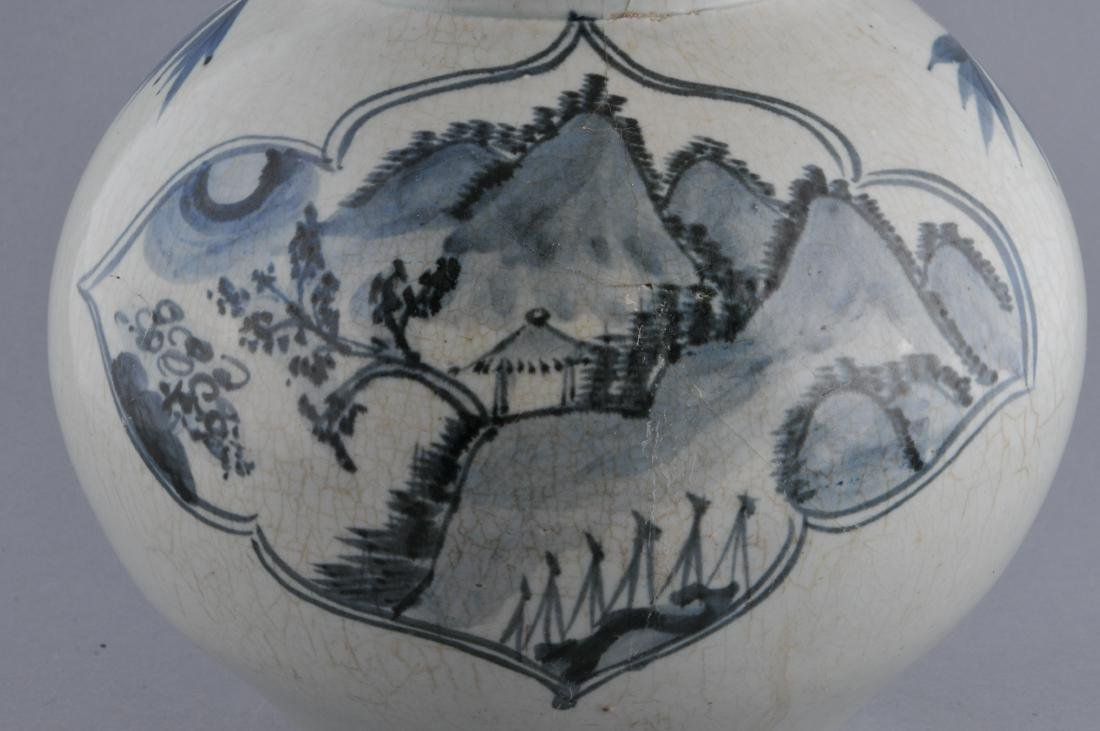 Porcelain jar. Korea. 18th century. Underglaze blue - 5