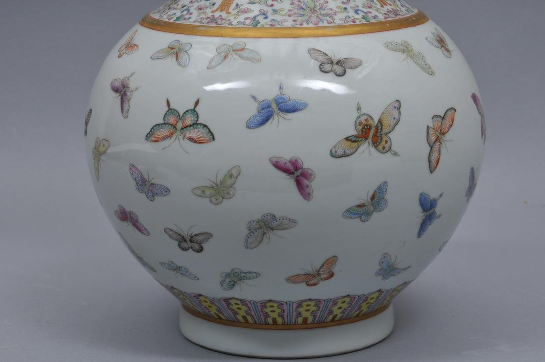 Porcelain vase. China. Kuang Hsu mark and period - 3
