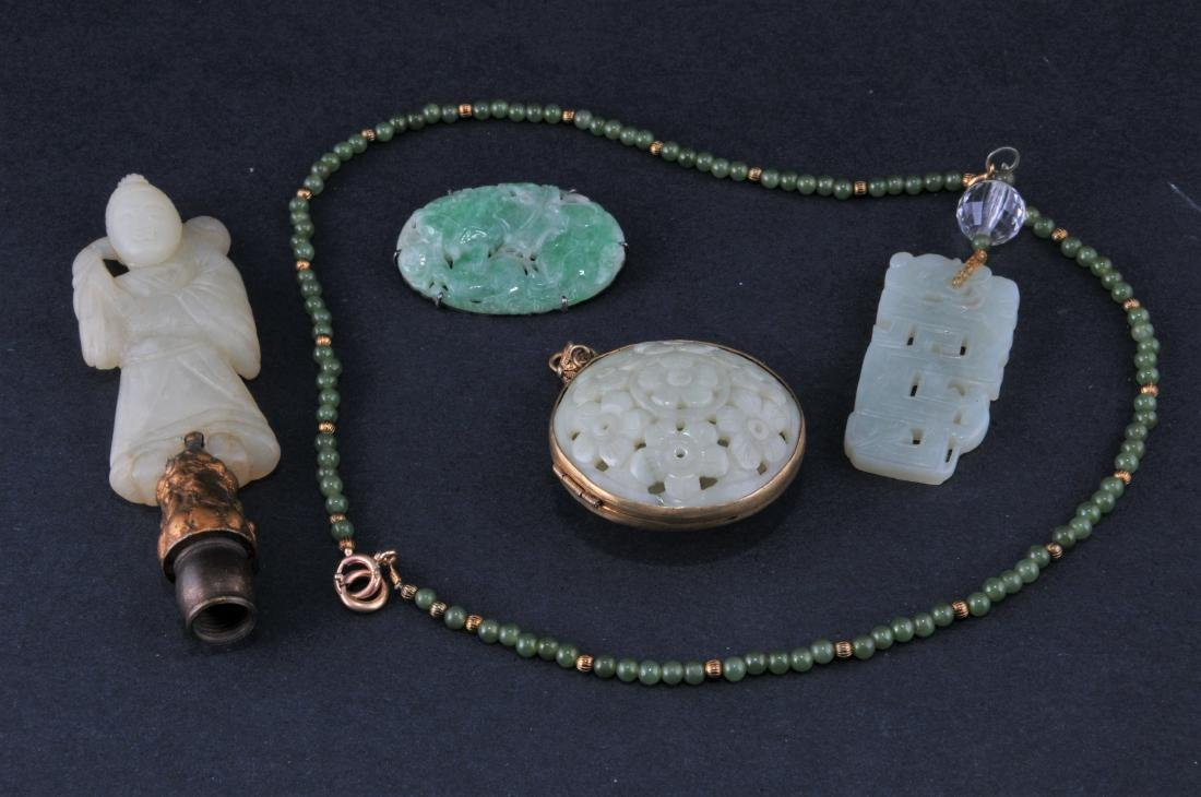 Lot of four Jade carvings. China. 19th to early 20th
