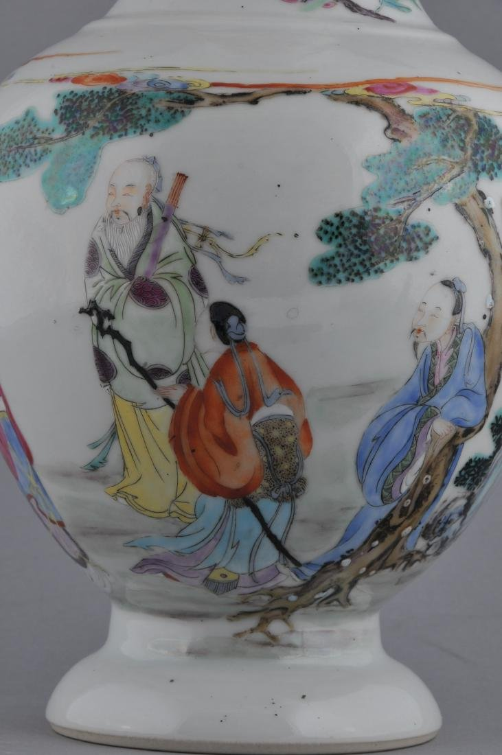 Porcelain vase. China. Late 19th century. Famille Rose - 2