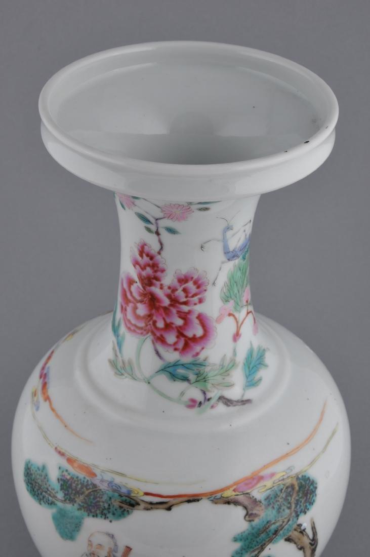 Porcelain vase. China. Late 19th century. Famille Rose - 3
