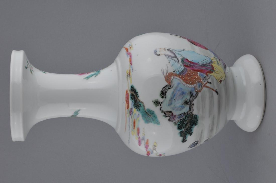 Porcelain vase. China. Late 19th century. Famille Rose - 4