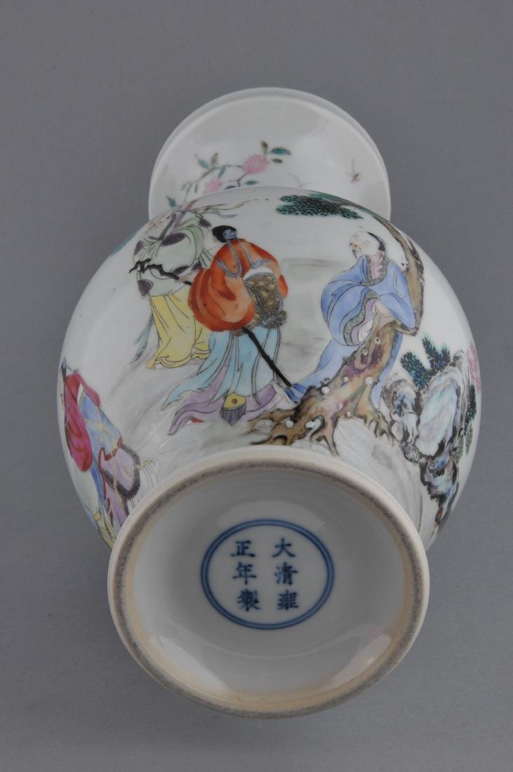 Porcelain vase. China. Late 19th century. Famille Rose - 6