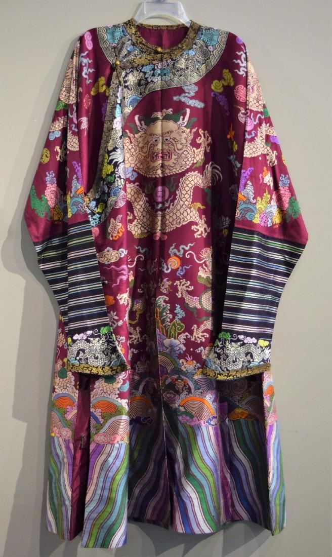 Dragon robe. China. Early 20th century. Dragons and