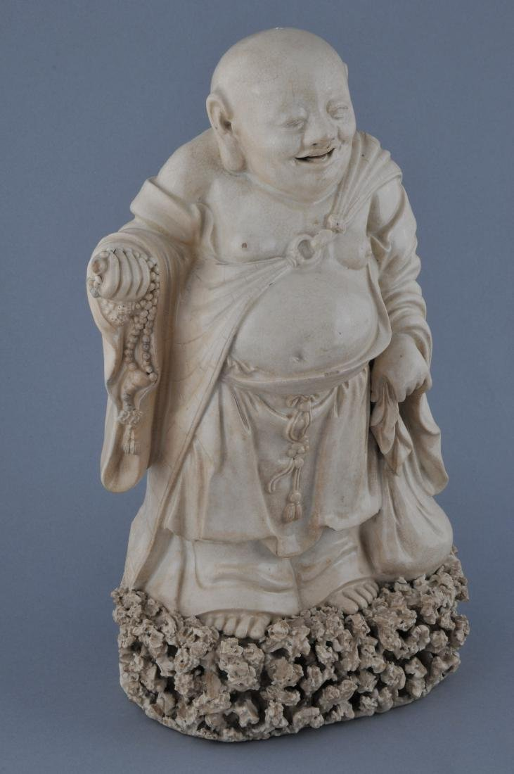 Two pottery figures. China. 19th century. Ivory white - 4
