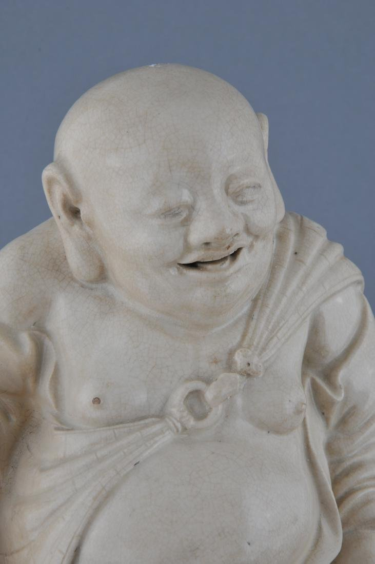 Two pottery figures. China. 19th century. Ivory white - 5